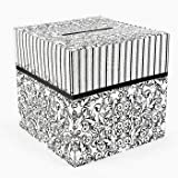 Cardboard Black And White Wedding Card Box by Fun Express