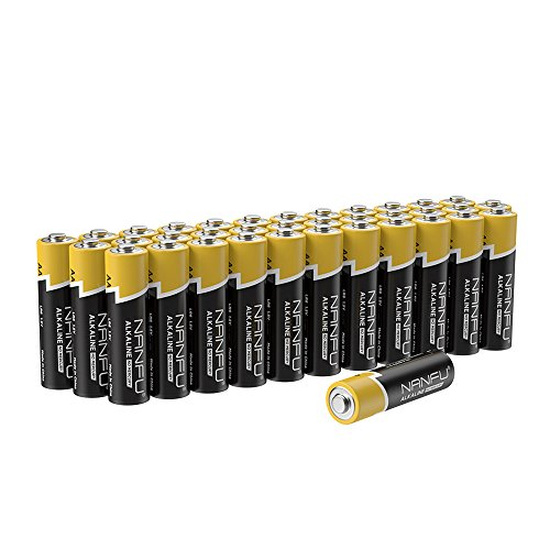 NANFU No Leakage Long Lasting AA 36 Batteries [Ultra Power] Premium LR6 Alkaline Battery 1.5v Non Rechargeable Batteries for Clocks Remotes Games Controllers Toys & Electronic Devices ...