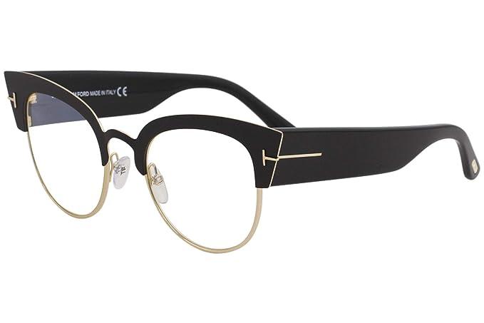 Tom Ford Gafas de Sol ALEXANDRA-02 FT 0607 MATTE BLACK/BLUE ...