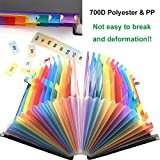 24 Pockets Multicolour High Capacity Expanding
