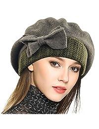 JESSE · RENA Women Wool French Beret Cloche Chic Angola Beanie Skull Cap Winter Hats