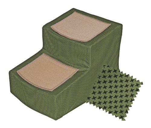 Pet Gear Designer 2-Step with Removable Cover, Pet Stairs, Sage