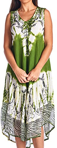 High Style Women's Umbrealla Full Length Dress Cover up with Chiffon Bottom (26740, Kiwi, S/M)