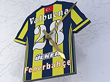 MyShirt123 Fenerbahce FC Club de fútbol - Camiseta de fútbol Reloj - Cualquier Nombre y Cualquier número - Elegir.: Amazon.es: Deportes y aire libre