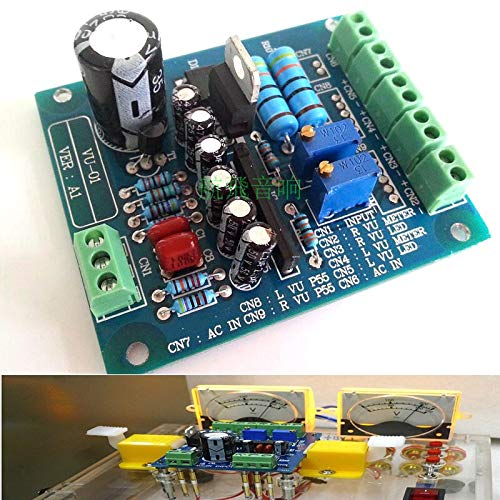 Cailiaoxindong Dual Stereo VU Meter Driver Board Amplifier DB Audio Level AC 12V Input Backlit