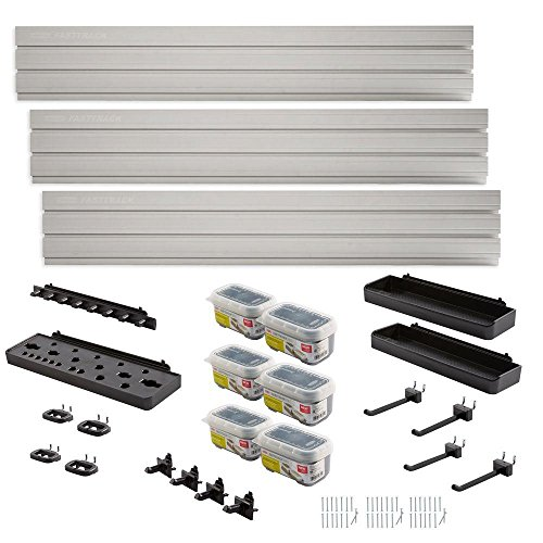 Rubbermaid FastTrack Garage Wall Panel Starter Kit (23-Piece) by Rubbermaid