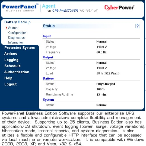 CyberPower OR1500LCDRM1U Smart App LCD UPS System, 1500VA/900W, 6 Outlets, AVR, 1U Rackmount by CyberPower (Image #2)