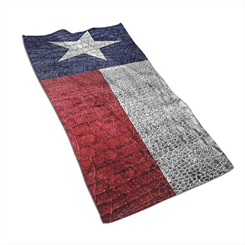 OBILITDREAM Texas State Flag Painted Face Towel,Hand Towel,Kitchen Towels-Dish 3D Design Pattern Towel,Towels for The Kitchen,Cleaning,Cooking,Baking 15.7x27.5in (Hand Painted Lavender Planter)