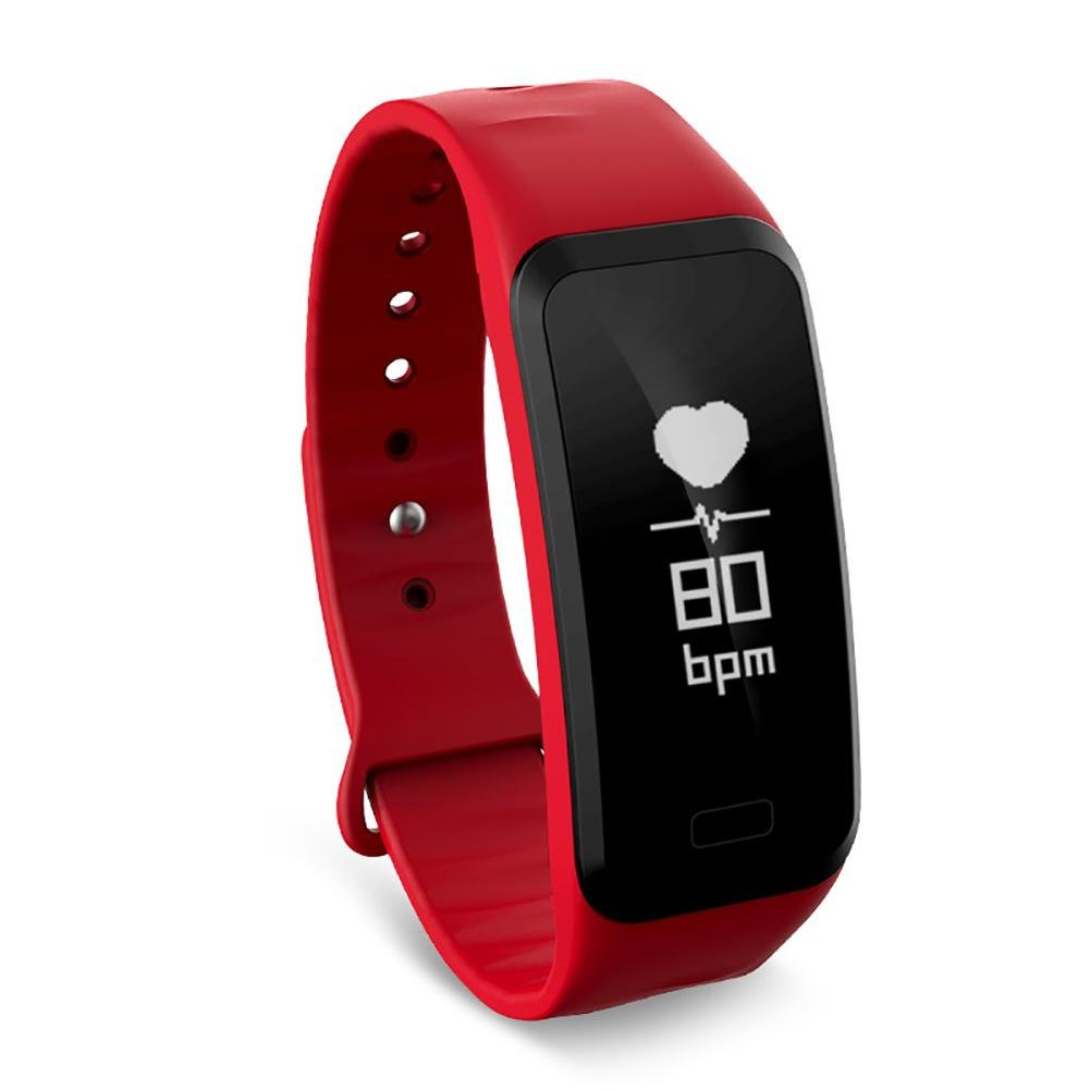 Flower205 Pulsera Actividad Impermeable IP67,Pulsera inteligente Presión sanguínea Frecuencia cardíaca Paso Pulsera deportiva de salud Touch Health Monitoring Smart Bracelet Deporte para Android y IOS