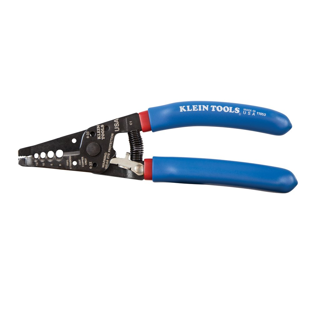 Klein-Kurve Wire Stripper and Cutter for 6-12 AWG Stranded Wire, 7-1 ...
