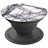 PopSockets: Expanding Stand and Grip for Smartphones and Tablets - White Marble