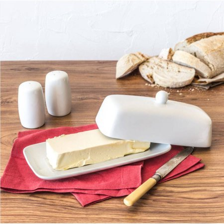 Better Homes and Gardens Salt and Pepper with Butter | Porcelain Butter Dish with Salt and Pepper Shaker (Butter Dish Chicken compare prices)
