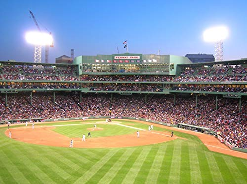 (Boston Massachusetts Game at Fenway Park Photography A-91114 (24x36 Fine Art Giclee Gallery Print, Home Wall Decor Artwork Poster) )