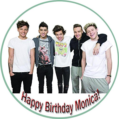 One Direction 1 Edible Birthday Cake OR Cupcake Topper - 6