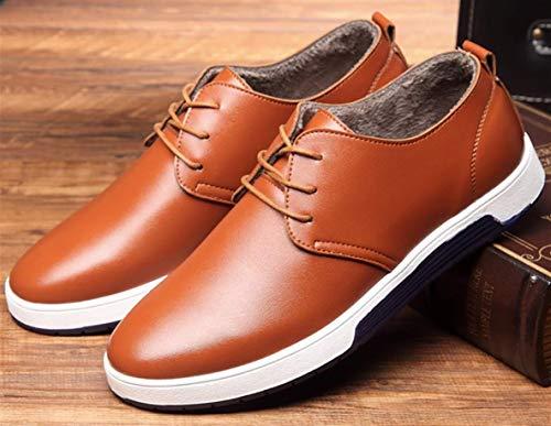 48 particolarmente Extra scamosciato casuale Dimensione Uomo PU stile Pelle scarpe Brown Uomini Inverno Grande Inghilterra Bebete5858 5IqBxwHH