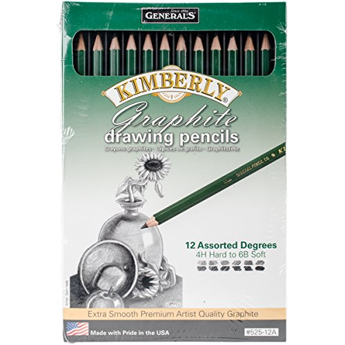 General Pencil 525-12A Graphite Drawing Pencils (12 Pack)