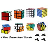 D-FantiX Shengshou Speed Cube 2x2 3x3 4x4 5x5 Bundle Magic Cube Puzzle Set of 4 Black