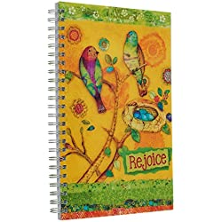 "Joyful Garden ""Rejoice"" Printed PVC Cover Wirebound Journal / Notebook - Philippians 4:4"