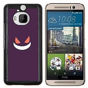 EJOOY---Cubierta de la caja de protección para la piel dura ** HTC One M9Plus M9+ M9 Plus ** --Púrpura de Poke Monster