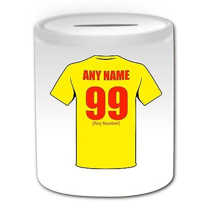De regalo con mensaje personalizado - Hucha Watford (de balón de fútbol diseño de palo