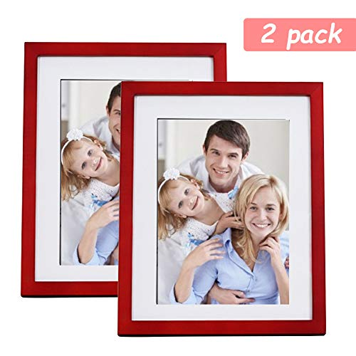 Lamberia Picture Frames Made of Solid Wood High Definition Glass for Table Top Display and Wall Mounting Photo Frame (Red Wood, 4x6 inch) (For Red Frames Photos)