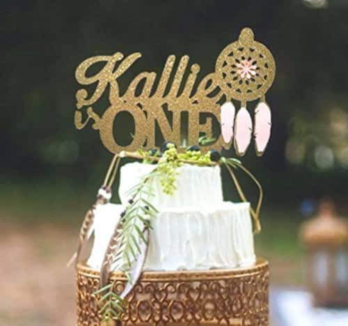 Amazon.com: Dream Catcher Birthday Cake Topper, Custom ...