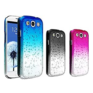 Waterdrop Gradient Color Transparent PC Hard Case for Samsung Galaxy S3 i9300 --- COLOR:Black