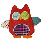 Mary Meyer Natural Life Baby Animal Plush Rattle, Whooo Loves You Owl