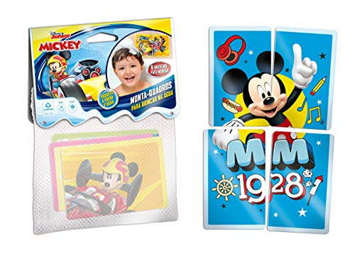 Jogo Monta-quadros Para Brincar Na Água-disney Junior Mickey Copag Estampado