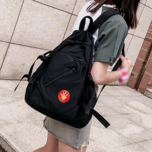 Damen Daypacks,LUCKDE Fahrrad Rucksäcke Strandtaschen Sporttaschen Reisetaschen Vintage Tasche Segeltuchrucksack Handtaschen Organizer Schulrucksack Sportrucksäcke (Rosa) Schwarz