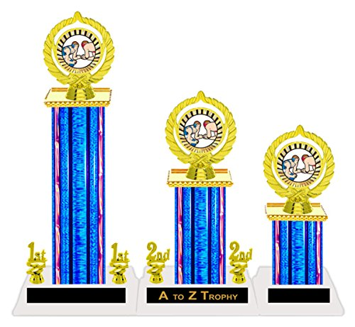 Wrestling Trophy Trophies 1st 2nd 3rd Place Tournament Awards Free Engraving Color Choice by Trophies