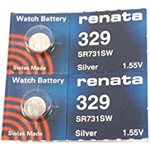 #329 Renata Watch Batteries 2Pcs