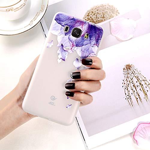 - PCSJK Phone Case for Samsung Galaxy S7 S8 S9 Plus A3 A5 A7 J3 J5 J7 Fashion Cartoon 3D Relief Petal Flower Soft TPU Phone Case