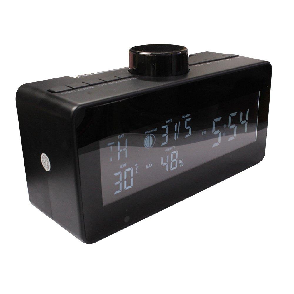 匠ブランド (タクミブランド) Wi-Fi置時計型ビデオカメラ ラジオステイト Radio state フルHD ブラック B07DFWHTSG