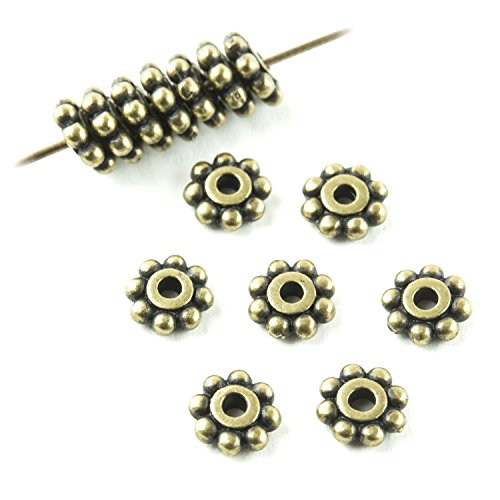 Bali Daisy Spacer Beads - 4