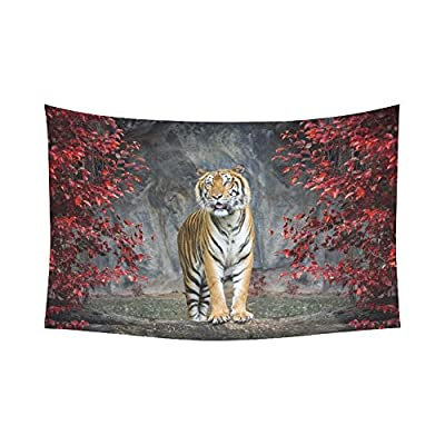 InterestPrint Landscape Nature Scenery Wall Art Home Decor, Animal Tiger Tapestry Wall Hanging Art Sets 90 X 60 Inches
