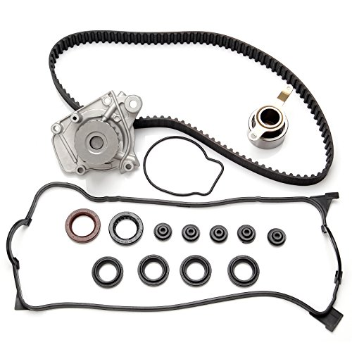 SCITOO Timing Belt Water Pump Kit Valve Cover Gasket Automotive Replacement Timing Parts Chain Sets fit 1996-2000 Honda Civic 1.6L SOHC D16Y7 ()