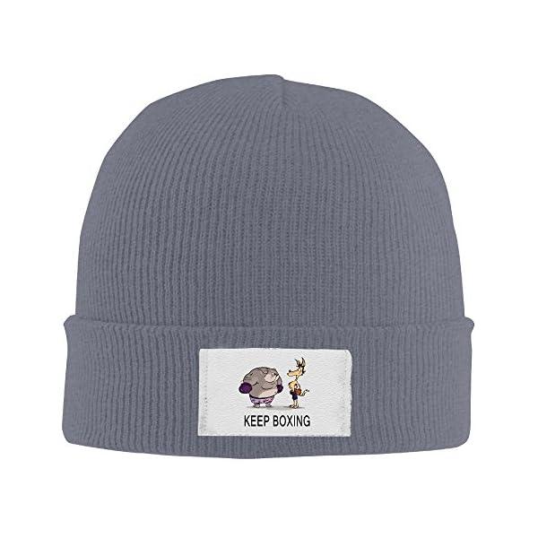 Yz Knit Caps Unisex Keep Boxing Man Fashion Beanie Skull Cap -