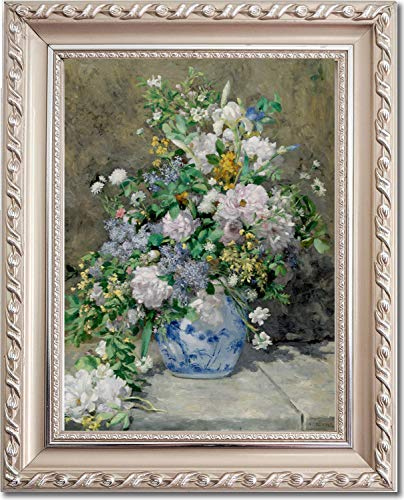Ori Gallery Framed Canvas Print - Spring Bouquet - by Pierre Auguste Renoir