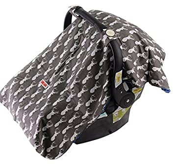 Amazon Com Baby Car Seat Cover For Boys Carseat Canopy Gray