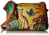 Anuschka Anna Handpainted Leather Medium Satchel Organizer, Cat