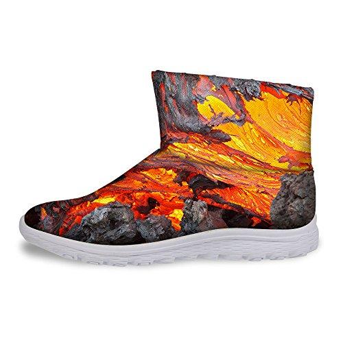 FOR U DESIGNS Fashion Men Boys Christmas Carnival Winter Flat Snow Boots Waterproof Brown 6 eWIQ0I
