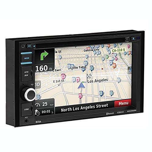 BOSS Audio BV9382NV Double Din, Touchscreen, Bluetooth, Navigation/GPS, DVD/CD/MP3/USB/SD AM/FM Car Stereo, 6.2 Inch Digital LCD Monitor, Wireless Remote (Car Stereo System Navigation With)