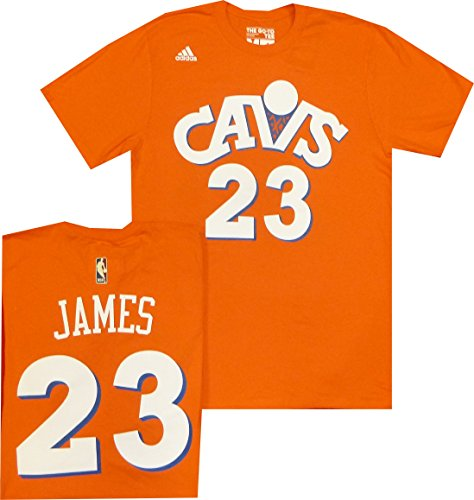 Cleveland Cavaliers Lebron James Adidas Orange Hardwood Classic Throwback T Shirt