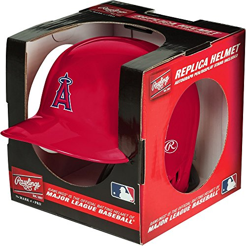 Rawlings MLB Los Angeles Angels Mini Replica Helmet, - Mini Angels Mlb