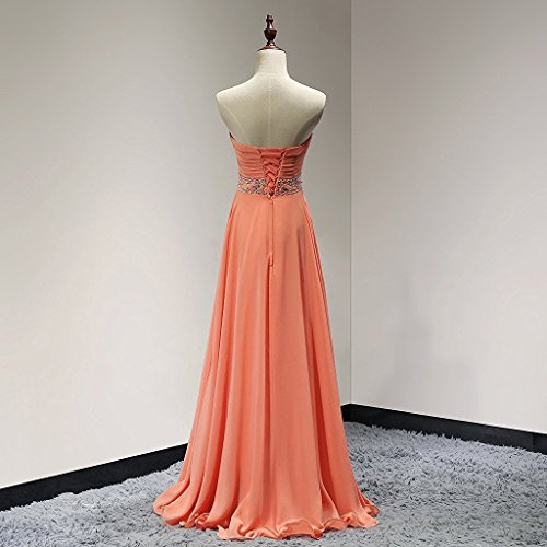 Dress Evening Chiffon Bridesmaid Long Gown Prom Sky Blue Solovedress Crystal Women's wXFqtBB