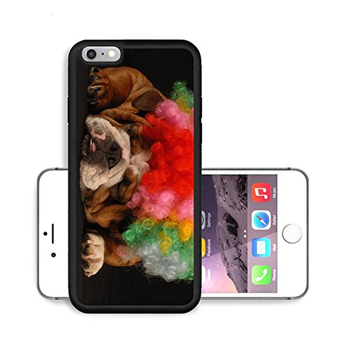 [Liili Premium Apple iPhone 6 Plus iPhone 6S Plus Aluminum Backplate Bumper Snap Case IMAGE ID: 4184274 english bulldog dressed up with clown wig on black] (Comical Halloween Costumes)