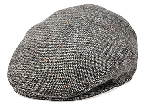 Men's Premium Wool Blend Classic Flat Ivy Newsboy Collection Hat (Large, Grey2150)