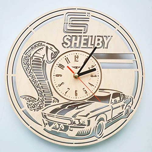 7ArtsStudio Shelby Wall Clock Made of Eco-Friendly Wood - Perfect and Beautifully Cut - Decorate Your Home with Modern Art - Unique Gift for Him and Her - Size 12 - Eco Shelby Friendly