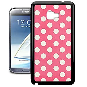 Bumper Phone Case For Samsung Galaxy Note 2 - Polka Dots on Hot Pink Back Premium